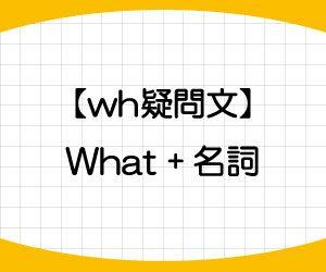 wh疑問文-作り方-例文-wh語-名詞-画像1