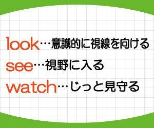 look-see-watch-違い-見る-英語-使い分け-画像2