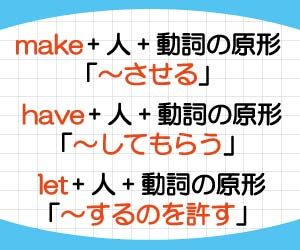 make-have-let-意味-使い方-違い-使役動詞-使い分け-例文-画像2