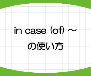 in-case-of-just-in-case-意味-使い方-例文-画像1