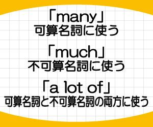 many-much-a-lot-of-違い-使い分け-たくさんの-意味-例文-画像2
