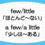 few-a-few-little-a-little-違い-意味-使い方-例文-画像2