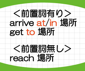 arrive-at-in-reach-get-to-違い-意味-使い方-例文-画像2