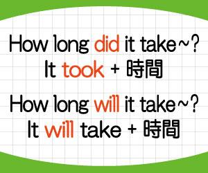 how-long-does-it-take-意味-答え方-英語-どのくらい時間がかかる-使い方-例文-画像2