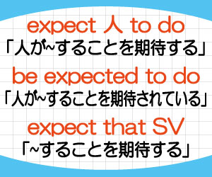 expect-人-to-do-be-expected-to-do-expect-that-意味-使い方-例文-画像2