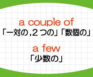 a-couple-of-a-few-違い-意味-使い方-例文-画像2