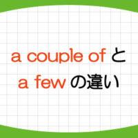 a-couple-of-a-few-違い-意味-使い方-例文-画像1