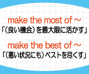 make-the-most-of-make-the-best-of-違い-意味-使い方-例文-画像2