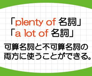 plenty-of-意味-使い方-a-lot-of-違い-例文-可算名詞-画像2