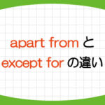 apart-from-except-for-違い-意味-使い方-例文-画像1