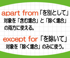 apart-from-except-for-違い-意味-使い方-例文-画像2